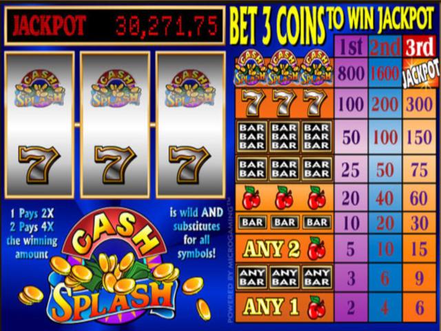 Cash splash 3 Reel Free Slot Game