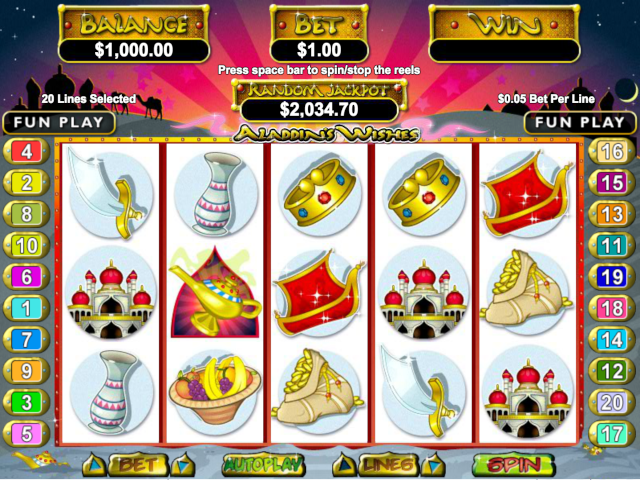 Aladdin's Wishes Free Slot Game