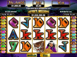 Aztec's Millions - Internet Slot Game