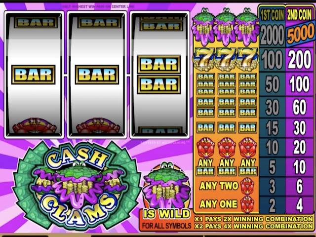 Cash Clams Free Slot Game