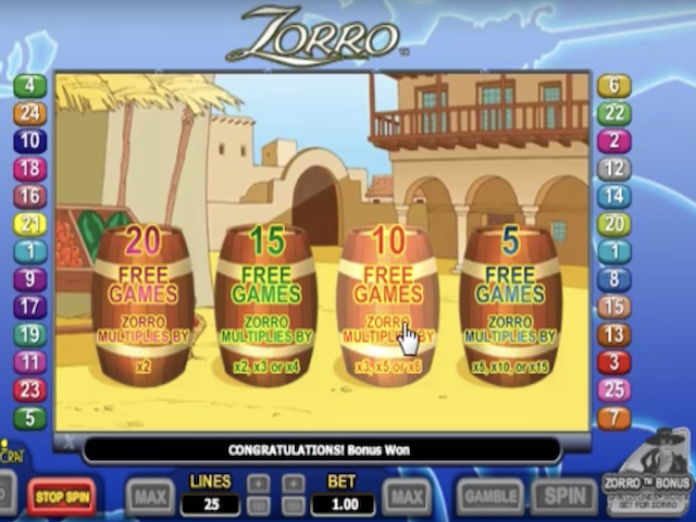 Zorro Free Slot Game